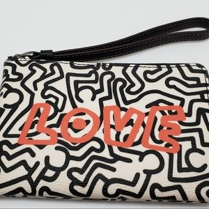 Coach Keith Haring Love Wristlet F11831